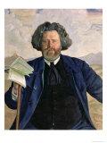 Portrait of Maximilian Voloshin Giclee Print by B. M. Kustodiev