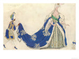Costume Design For the Queen in 'sleeping Beauty', 1921 Giclee Print by Leon Bakst