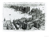 London Bridge, Old London Illustrated, a Series of Drawings Illustrating London in the XVI Century Giclee Print by Henry Breuer