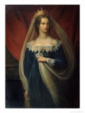 Portrait of Princess Charlotte Von Preussen, 1817 Giclee Print by Franz Gerhard von Kugelgen
