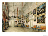 The Dance Hall in at Count Bezborodko's House, St. Petersburg, 1849 Giclee Print by Luigi Premazzi