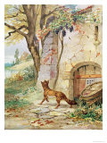 The Fox and the Grapes, Illustration For Fables by Jean de La Fontaine Giclee Print by Jules David