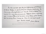 Part of a Letter Written and Signed by President John Adams Giclee Print by John Adams