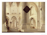Interior of the Grote Kerk, Amsterdam, c.1637 Giclee Print by Pieter Jansz Saenredam