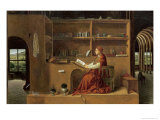 St. Jerome in His Study, c.1475 Giclée-tryk af Antonello da Messina