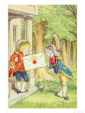 The Fish-Footman Delivering an Invitation to the Duchess, Alice in Wonderland by Lewis Carroll Giclee Print by John Tenniel