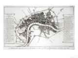 London Fortifications in 1642 and 1643, 1738 Reproduction procédé giclée par George Vertue