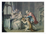 The Dukes of Northumberland and Suffolk Praying Lady Jane Grey to Accept the Crown Giclee Print by Giovanni Battista Cipriani