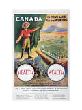 Poster Promoting Emigration to Canada, 1914 Reproduction proc&#233;d&#233; gicl&#233;e