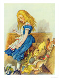 Alice Upsets the Jury-Box, Illustration from Alice in Wonderland by Lewis Carroll Giclee Print by John Tenniel