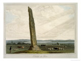 Obelisk at Forres, c.1821 Giclee Print by Thomas & William Daniell