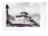 The Residence of Lam Glassa-Too, Watercolour by Samuel Davies After an Engraving Giclee Print by James Basire