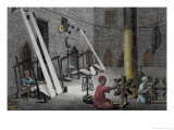 Interior of Weaver's Workshop, Vol.II, Description of Egypt, c.1822 Giclee Print by Nicolas Jacques Conte