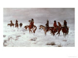 Lost in a Snow Storm - We Are Friends, 1888 Giclée-tryk af Charles Marion Russell