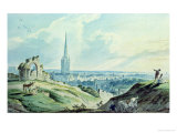 View of Norwich, from Mouseshold Hill, Near the Ruins of Kett's Castle Giclee Print by Charles, II Catton