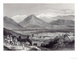 Cabul from the Bala Hissar, Engraved by J. Stephenson, c.1870 Giclee Print by J Ramage