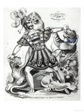 Van Amburgh the Brute Tamer, 1838 Giclee Print by J. Fairburn