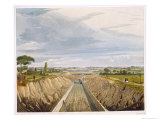 Near Liverpool, Looking Towards Manchester, Engraved Pyall, Pub. Ackermann and Co., 1833 Giclee Print by Thomas Talbot Bury
