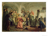 The Oprichnina at the Court of Ivan Iv Giclee Print by Nikolai Vasilievich Nevrev