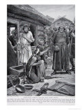 Over-Taxed Subjects Ejected from Their Houses, Illustration from The History of the Nation Giclee Print by Richard Caton Woodville
