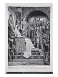 The Assembly at Windsor, 1126, Illustration from The History of the Nation Giclee Print by Richard Caton Woodville