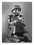 Gudea, Prince of Lagash, Dedicated to Ningizzada, Neo-Sumerian, Telloh, Ancient Girsu, c.2130 BC Giclee Print by Mesopotamian
