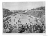Revival of the Olympic Games in Athens: Loues Winning the Race from Marathon, 10th April 1896 Giclee Print