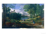 Landscape with a Man Killed by a Snake, c.1648 Giclee Print by Nicolas Poussin
