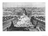 Improvements to Paris, Opening of Avenue Napoleon After the Building of the Butte Des Moulins, 1877 Giclee Print by Auguste Victor Deroy
