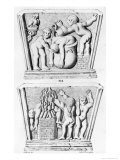 Baptism, Copy of Gnostic Caskets, Engraved by Thierry Freres Giclee Print by Julien Leopold Boilly