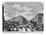 Paris, 1878, Boulevard Haussmann Between Boulevard Des Italiens and Rue Taitbout, Engraved Dumont Giclee Print by Michel Charles Fichot