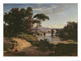 The Bridge at Narni, c.1826-27 Giclee Print by Jean-Baptiste-Camille Corot