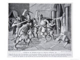 Cynewulf of Wessex Slain at Merton Giclee Print by Richard Caton Woodville
