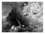 Head of Itzam Na, Izamal, Yucatan, Mexico, 1844 Giclee Print by Frederick Catherwood
