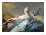 Portrait of Adelaide de France, as the Element Air Giclee Print by Jean-Marc Nattier