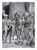Stephen's Soldiers Are Rubbed with Honey, Illustration from The History of the Nation Giclee Print by Richard Caton Woodville