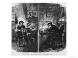 Two Garrets, Illustration from Le Magasin Pittoresque, Paris, 1855 Giclee Print by Henry Augustin Valentin