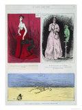 Caricatures of Painters, Henri Regnault, Edouard Manet, Gustave Guillaumet, Le Salon Pour Rire Giclee Print