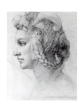 Ideal Head of a Woman, c.1525-28 Giclee Print by  Michelangelo Buonarroti