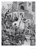 Beckets Procession Through France, 1158, Illustration from The History of the Nation Giclee Print by Richard Caton Woodville