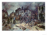 German Troops Entering the City of Ortelsburg During the Battle of Tannenberg, August 1914 Giclee Print by Georg Koch
