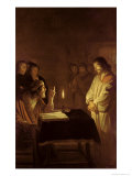 Christ Before the High Priest, 1617 Lámina giclée por Gerrit van Honthorst