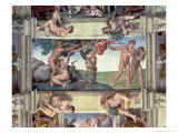 Sistine Chapel Ceiling, the Fall of Man, Expulsion from the Garden of Eden, Four Ignudi, 1510 Giclee Print by  Michelangelo Buonarroti