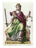Allegory of Justice, Published by Baffet, 1792, Giclee Print