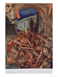 Last Feast of Robert de Comines Men at Durham, 1069, Book The History of the Nation Giclee Print by Richard Caton Woodville