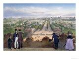 Champs-Elysees, from the Top of the Arc de Triomphe, Promenades Dans Paris et Ses Environs, c.1840 Giclee Print by Felix Benoist