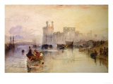 View of Carnarvon Castle Giclee Print