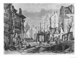 Paris, Demolitions For the Building of Rue Des Ecoles, Engraved by Charles Maurand Giclee Print by Felix Thorigny