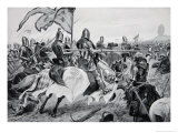 The Battle of Crecy, 26th August 1346, Illustration from The History of the Nation Giclee Print by Richard Caton Woodville
