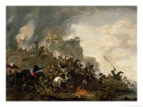 Cavalry Making a Sortie from a Fort on a Hill, 1646 Giclee Print by Philips Wouwermans Or Wouwerman